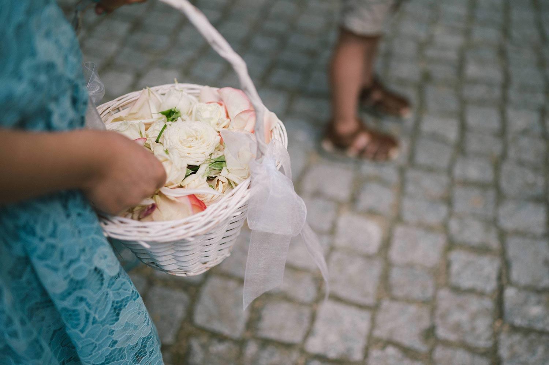 Blumenkinder auf der Hochzeit